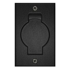 Stofzuigcontact ronde deur zwart