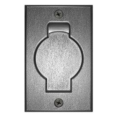 Stofzuigcontact ronde deur zilver