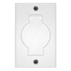 Stofzuigcontact ronde deur wit